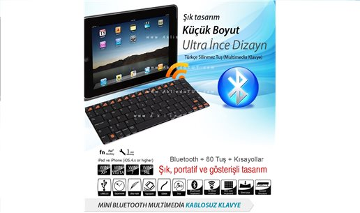 MİNİ BLUETOOTH KABLOSUZ KLAVYE - MİNİ BLUETOOTH WİRELESS KEYBOARD