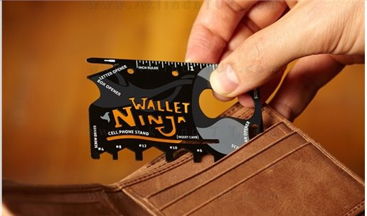 NİNJA ÇAKI - NİNJA WALLET 18 İN 1 MULTİ TOOL KİT