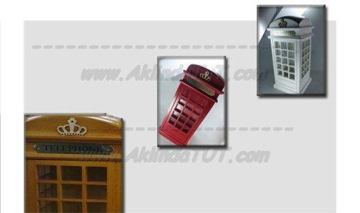 NOSTALJİK TELEFON KULÜBESİ KUMBARA (İNGİLİZ TİPİ)