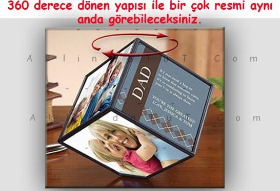 DÖNEN RESİM ÇERÇEVESİ - ROTATİNG PHOTO CUBE