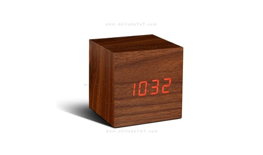 KÜP LED SAAT - CUBE ALARM LED CLOCK