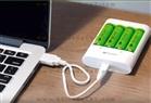 4 ADET GP RECYKO 2700 SERİSİ AA ŞARJLI KALEM PİL + GP U411 USB PİL ŞARJ CİHAZI