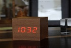 SESE DUYARLI K�P LED SAAT - CLAP ON CUBE ALARM LED CLOCK